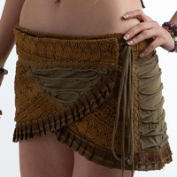 PIXIE SKIRT, elf skirt, psytrance mini skirt, goa Skirt, wrap Skirt, Elf Mini Skirt