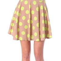 Bubbles In The Air Skirt - Mocha/Lime