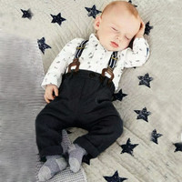 Baby Boy 2 PCS Overall Outfit Set
