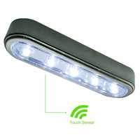 Hampton Direct Set Of 3 - 5 LED Under Cabinet Push Tap Touch (White Or Silver)
