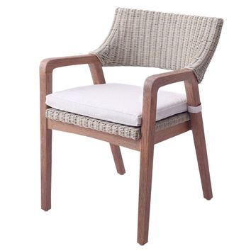 Shiloh Rattan Chair Greige Gray