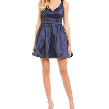B. Darlin Taffeta Fit and Flare Dress | Dillards