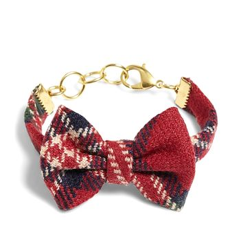 Women's Kiel James Patrick Tartan Bow Tie Bracelet | Brooks Brothers