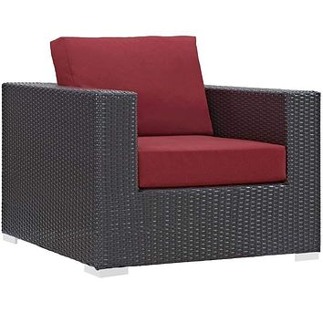Red Convene Outdoor Patio Armchair