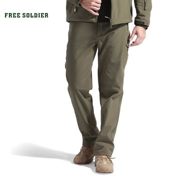 outdoor sport tactical climbing hiking pants for men softshell fleece fabric,water-resistant and windproof pants