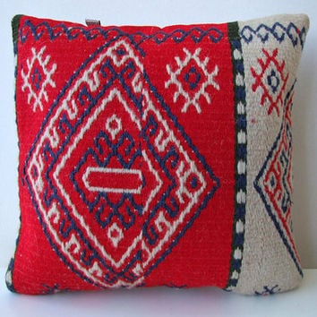 Anatolian Rug Pillow Cover (kilim)