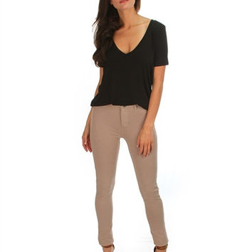 The Softest Skinny Jeans - Taupe