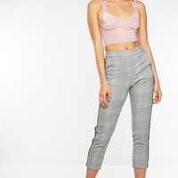 Bel Air Plaid Trousers - Grey