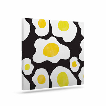 "Vasare Nar ""Fried Eggs Pattern"" Yellow Pop Art Canvas Art"