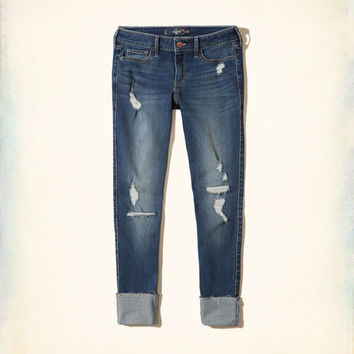 Girls Hollister Low-Rise Crop Super Skinny Jeans | Girls Hollister Low-Rise Crop Super Skinny Jeans | HollisterCo.com