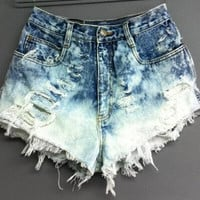 Summer Ripped Holes Sexy High Rise Denim Shorts [4920476612]