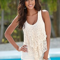 Lace ruffle top by VENUS