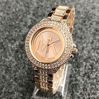 MK Michael Kors fashion more diamond brand men and women fashion watch Rose gold