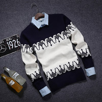 Lightweight Men's Comfortable Knitted Sweater Knitwear