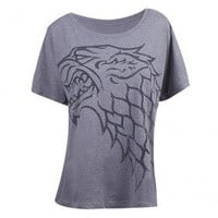 Game of Thrones Stark Women's Dolman Loose Fit T-Shirt