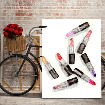 Printable art MAC lipstick art, lipstick art, mac lipstick set, lipstick print,makeup art, makeup print, fashion print