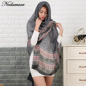 2017 new arrival Scarf Oversized voile Scarf Women Wrap Sarong Sunscreen Pareo Beach Cover Up Long Cape Female Autumn and Winter