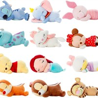 Cute Lying Sleeping Stitch Little Mermaid Chip Dale Marie Cat Piglet Daisy Donald Duck Dumbo Bear Plush Toy Stuffed Animals