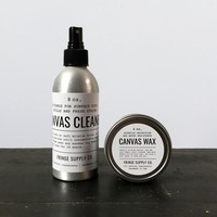 Canvas cleaner & Canvas wax | Fringe Supply Co.