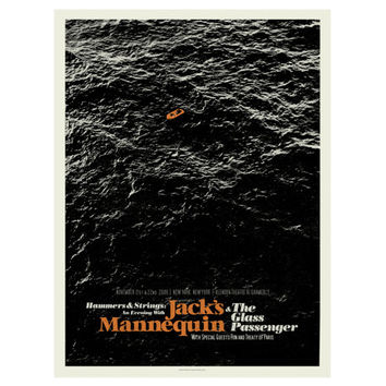 MID CENTURY MODERN Boat - Jack's Mannequin 18 x 24 Art Print Concert Poster, Lithograph, Nursery, Nautical, Sea, Hipster, Vintage Style