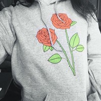 Rose Hooded Sweatshirt