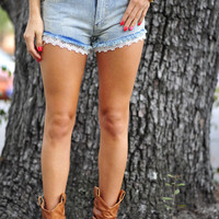 Love And Lace Daisy Dukes: Light Wash | Hope's