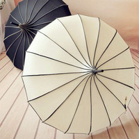 Pagoda umbrella Victorian Wedding Straight umbrella With Black and White Stripe Multi Color Vintage Princess Bridal Umbrella