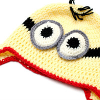 Despicable me Minion crochet hat Minion Crochet Baby Hat for boys or girls