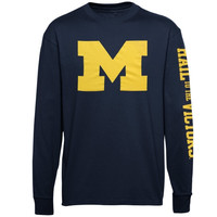 Michigan Wolverines Mascot Pride Long Sleeve T-Shirt – Navy Blue