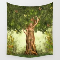 Mother Nature Tree Wall Tapestry by FantasyArtDesigns