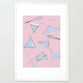 UNdone - pantone Framed Art Print by Ducky B