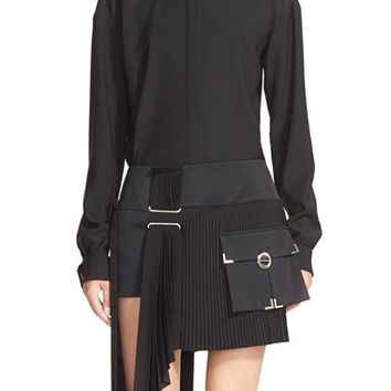 Women's Anthony Vaccarello Classical Wool Blend Shirt,