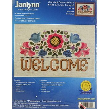 Welcome Garden - Counted Cross Stitch Kit - Janlynn