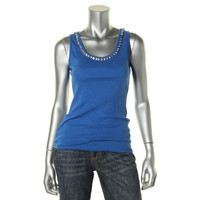 INC Womens Petites Ribbed Knit Scoop Neck Tank Top