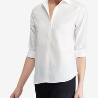 Lauren Ralph Lauren Petite Cotton Shirt - Tops - Women - Macy's