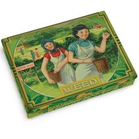 Weed Tin Pocket Box - Replica of a 1920's Cigarette Case