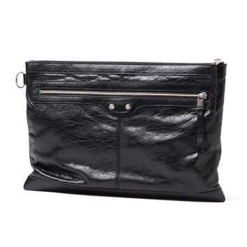 BALENCIAGA Over sized Leather Clutch Bag