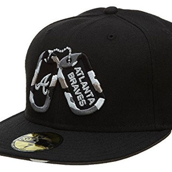 New Era Exofab Atlanta Braves Fitted Hat Mens Style: HAT364-BLK/WHT/GRY Size: 8