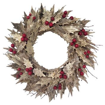 Smith & Hawken™ Birch Holly Wreath