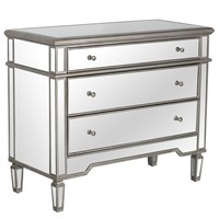 Cary Mirrored Chest - Silver
