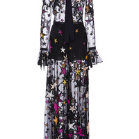 Flared Jumpsuit With Embroidered Multicolor Stars | Moda Operandi