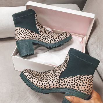 Sock and Roll Platform Leopard Sock Bootie