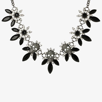 Pave Skull Statement Necklace