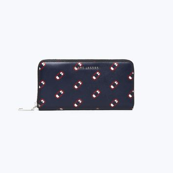 Saffiano Monogram Scream Standard Continental Wallet | Marc Jacobs