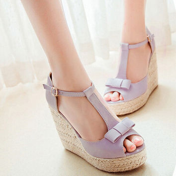 Kinsley Bow Tie Wedges