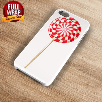 Big Red Candy Full Wrap Phone Case For iPhone, iPod, Samsung, Sony, HTC, Nexus, LG, and Blackberry