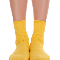 Solid Ankle Socks Yellow