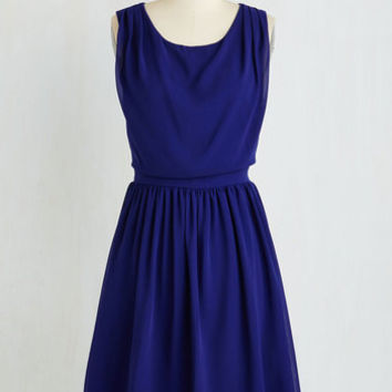 Mid-length Sleeveless A-line Flaunt Your Jaunt Dress by ModCloth
