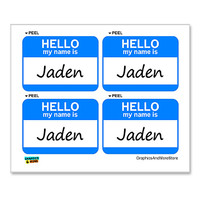Jaden Hello My Name Is - Sheet of 4 Stickers