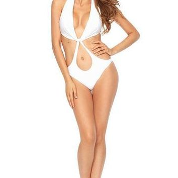 Surrender One Piece Swimsuit- WHITE